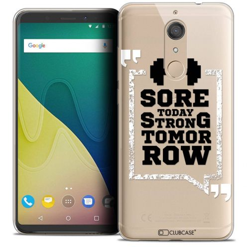 """Coque Crystal Gel Wiko View XL (5.99"""") Extra Fine Quote - Strong Tomorrow"""
