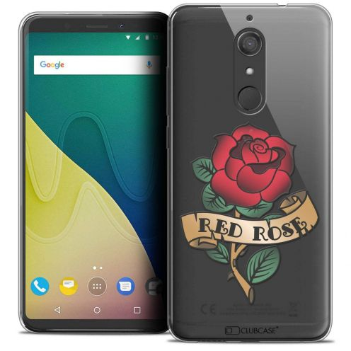 """Coque Crystal Gel Wiko View XL (5.99"""") Extra Fine Tatoo Lover - Red Rose"""