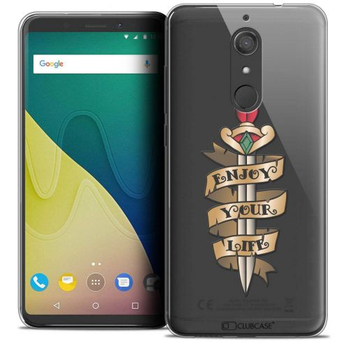 """Coque Crystal Gel Wiko View XL (5.99"""") Extra Fine Tatoo Lover - Enjoy Life"""