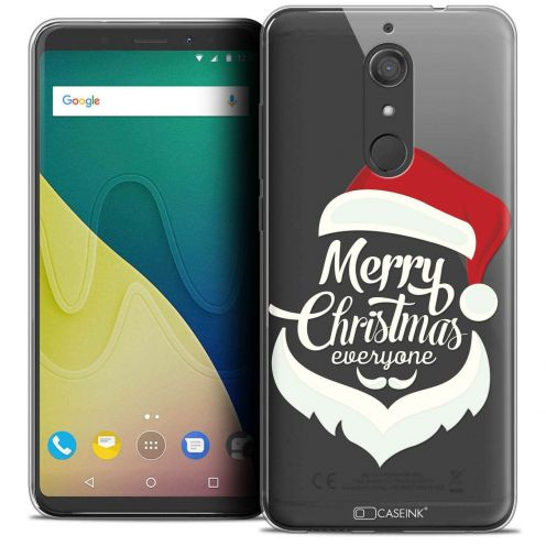 """Coque Crystal Gel Wiko View XL (5.99"""") Extra Fine Noël 2017 - Merry Everyone"""
