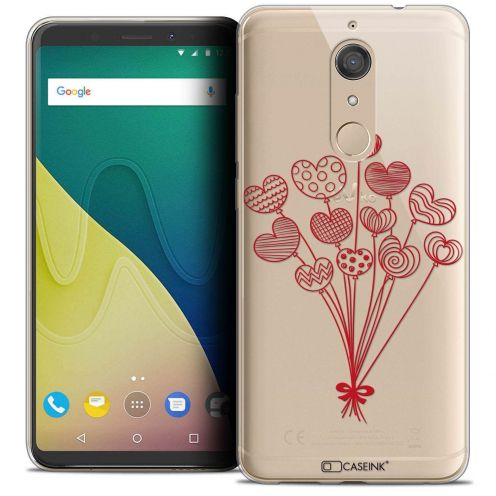 """Coque Crystal Gel Wiko View XL (5.99"""") Extra Fine Love - Ballons d'amour"""