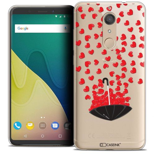 """Coque Crystal Gel Wiko View XL (5.99"""") Extra Fine Love - Parapluie d'Amour"""