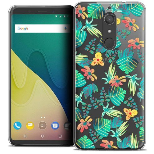 """Coque Crystal Gel Wiko View XL (5.99"""") Extra Fine Spring - Tropical"""