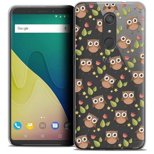 "Coque Crystal Gel Wiko View XL (5.99"") Extra Fine Summer - Hibou"