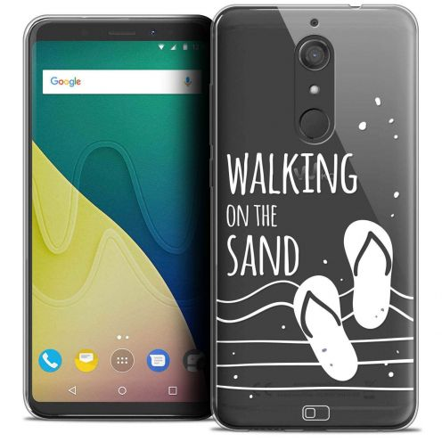 """Coque Crystal Gel Wiko View XL (5.99"""") Extra Fine Summer - Walking on the Sand"""