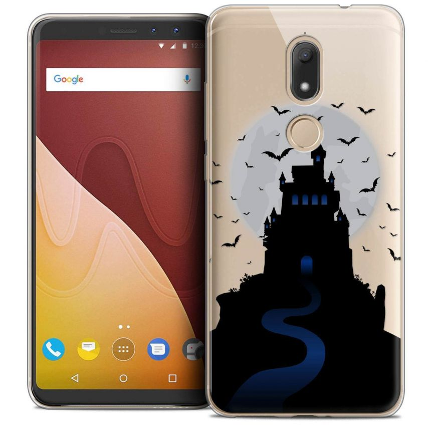 "Coque Crystal Gel Wiko View PRIME (5.7"") Extra Fine Halloween - Castle Nightmare"