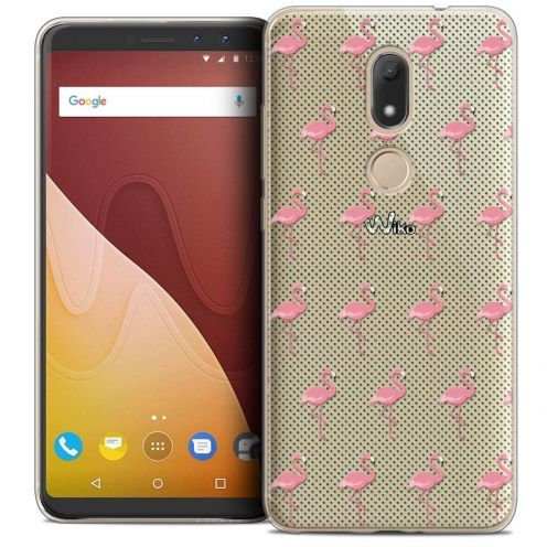 "Coque Crystal Gel Wiko View PRIME (5.7"") Extra Fine Pattern - Les flamants Roses Dots"