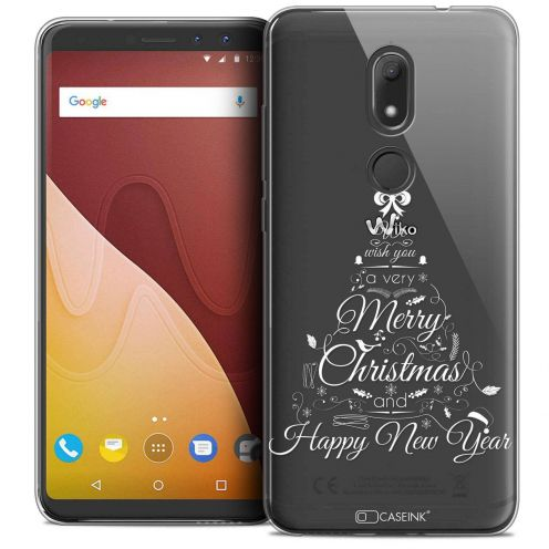 """Coque Crystal Gel Wiko View PRIME (5.7"""") Extra Fine Noël 2017 - Calligraphie"""