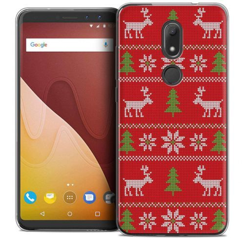 "Coque Crystal Gel Wiko View PRIME (5.7"") Extra Fine Noël 2017 - Couture Rouge"