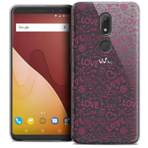 "Coque Crystal Gel Wiko View PRIME (5.7"") Extra Fine Love - Doodle"