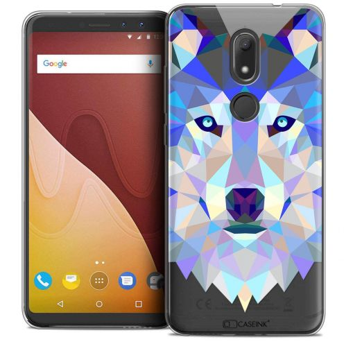 "Coque Crystal Gel Wiko View PRIME (5.7"") Extra Fine Polygon Animals - Loup"