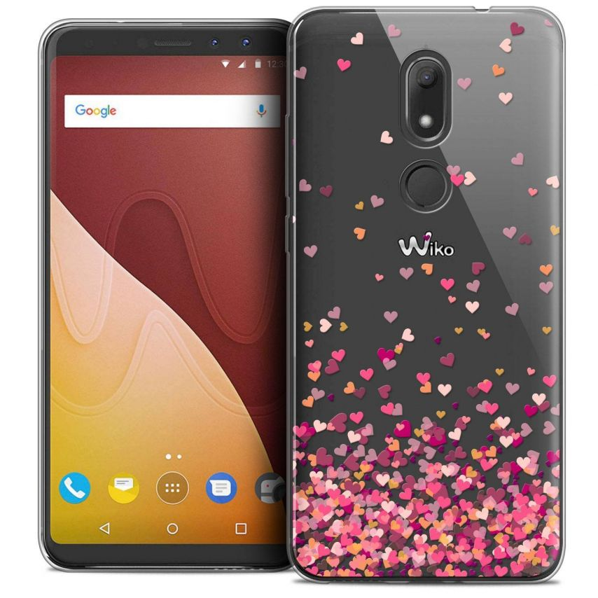 "Coque Crystal Gel Wiko View PRIME (5.7"") Extra Fine Sweetie - Heart Flakes"