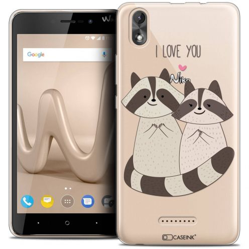 """Coque Crystal Gel Wiko Lenny 4 PLUS (5.5"""") Extra Fine Sweetie - Racoon Love"""
