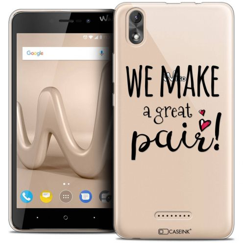 "Coque Crystal Gel Wiko Lenny 4 PLUS (5.5"") Extra Fine Love - We Make Great Pair"