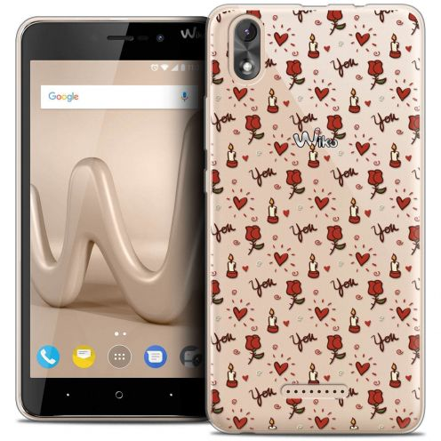 "Coque Crystal Gel Wiko Lenny 4 PLUS (5.5"") Extra Fine Love - Bougies et Roses"