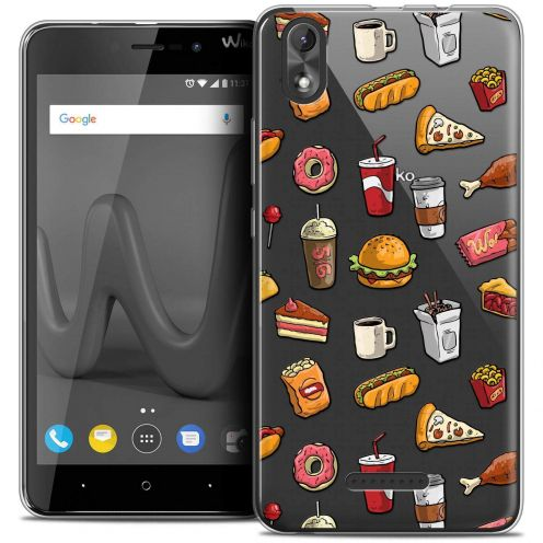 """Coque Crystal Gel Wiko Lenny 4 PLUS (5.5"""") Extra Fine Foodie - Fast Food"""