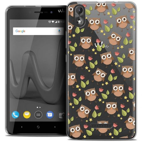 "Coque Crystal Gel Wiko Lenny 4 PLUS (5.5"") Extra Fine Summer - Hibou"