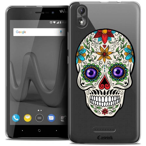 """Coque Crystal Gel Wiko Lenny 4 PLUS (5.5"""") Extra Fine Skull - Maria's Flower"""