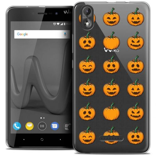 """Coque Crystal Gel Wiko Lenny 4 PLUS (5.5"""") Extra Fine Halloween - Smiley Citrouille"""