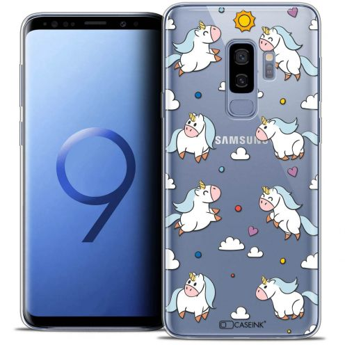 "Coque Crystal Gel Samsung Galaxy S9+ (6.2"") Extra Fine Fantasia - Licorne In the Sky"