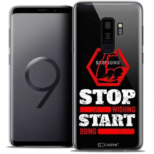 "Coque Crystal Gel Samsung Galaxy S9+ (6.2"") Extra Fine Quote - Start Doing"