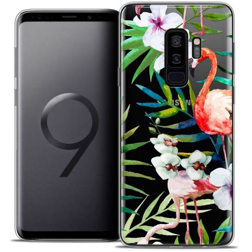 "Coque Crystal Gel Samsung Galaxy S9+ (6.2"") Extra Fine Watercolor - Tropical Flamingo"