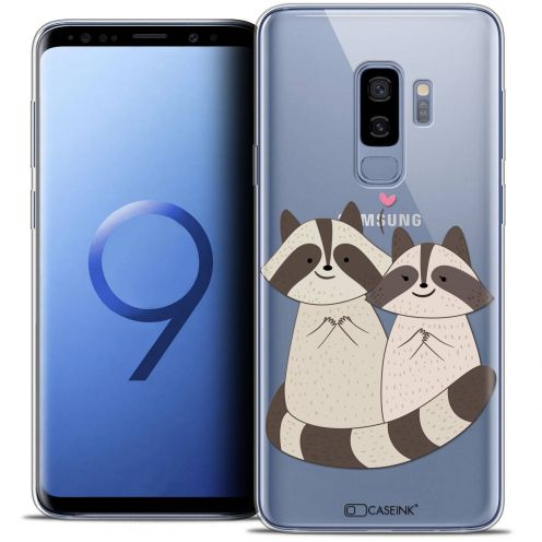 "Coque Crystal Gel Samsung Galaxy S9+ (6.2"") Extra Fine Sweetie - Racoon Love"