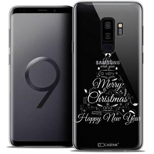 "Coque Crystal Gel Samsung Galaxy S9+ (6.2"") Extra Fine Noël 2017 - Calligraphie"