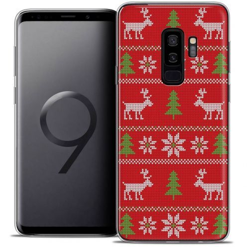 "Coque Crystal Gel Samsung Galaxy S9+ (6.2"") Extra Fine Noël 2017 - Couture Rouge"