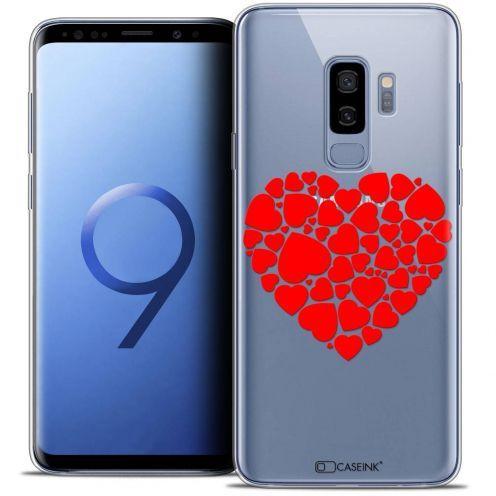 """Coque Crystal Gel Samsung Galaxy S9+ (6.2"""") Extra Fine Love - Coeur des Coeurs"""