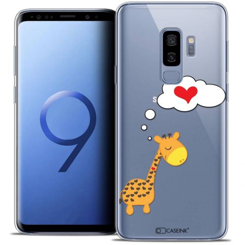 "Coque Crystal Gel Samsung Galaxy S9+ (6.2"") Extra Fine Love - Girafe Amoureuse"