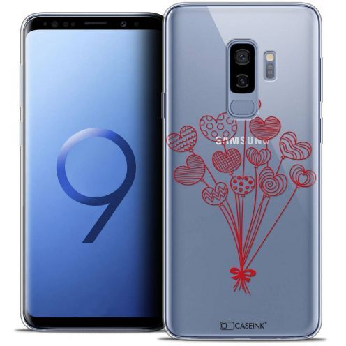 "Coque Crystal Gel Samsung Galaxy S9+ (6.2"") Extra Fine Love - Ballons d'amour"