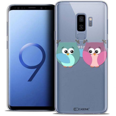 "Coque Crystal Gel Samsung Galaxy S9+ (6.2"") Extra Fine Love - Hibous à deux"