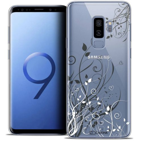 "Coque Crystal Gel Samsung Galaxy S9+ (6.2"") Extra Fine Love - Hearts Flowers"