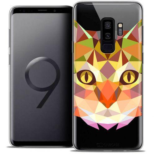 "Coque Crystal Gel Samsung Galaxy S9+ (6.2"") Extra Fine Polygon Animals - Chat"