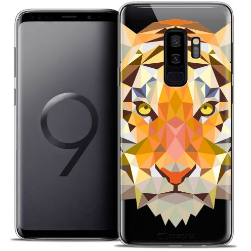 "Coque Crystal Gel Samsung Galaxy S9+ (6.2"") Extra Fine Polygon Animals - Tigre"