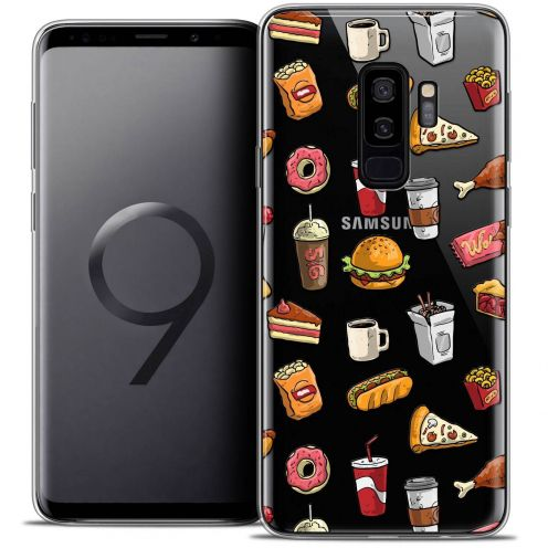 "Coque Crystal Gel Samsung Galaxy S9+ (6.2"") Extra Fine Foodie - Fast Food"