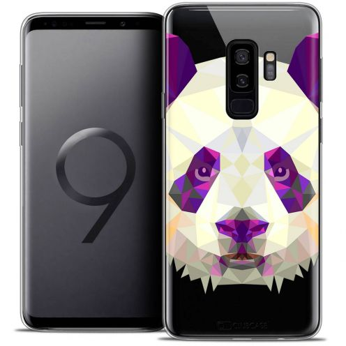 "Coque Crystal Gel Samsung Galaxy S9+ (6.2"") Extra Fine Polygon Animals - Panda"