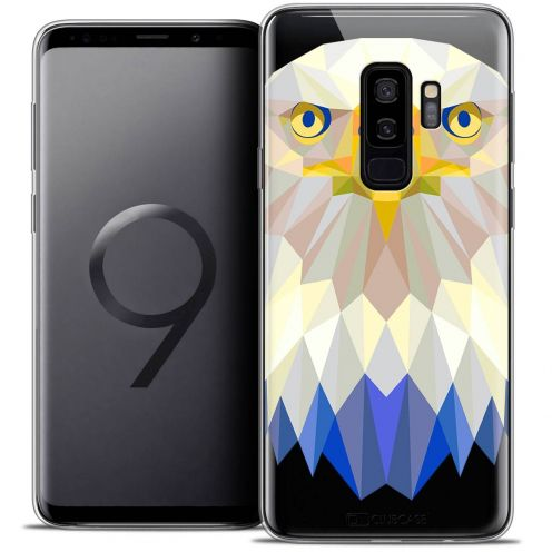 "Coque Crystal Gel Samsung Galaxy S9+ (6.2"") Extra Fine Polygon Animals - Aigle"