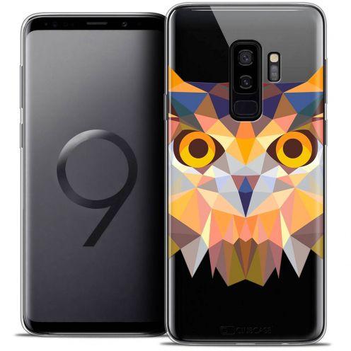 "Coque Crystal Gel Samsung Galaxy S9+ (6.2"") Extra Fine Polygon Animals - Hibou"