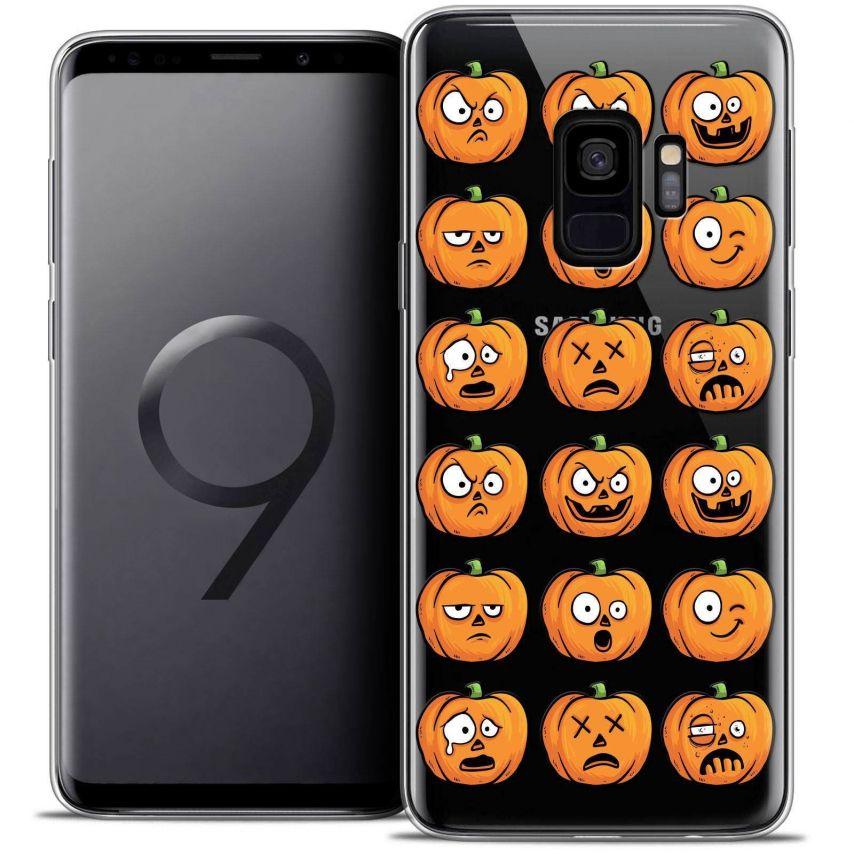 "Coque Crystal Gel Samsung Galaxy S9 (5.8"") Extra Fine Halloween - Cartoon Citrouille"
