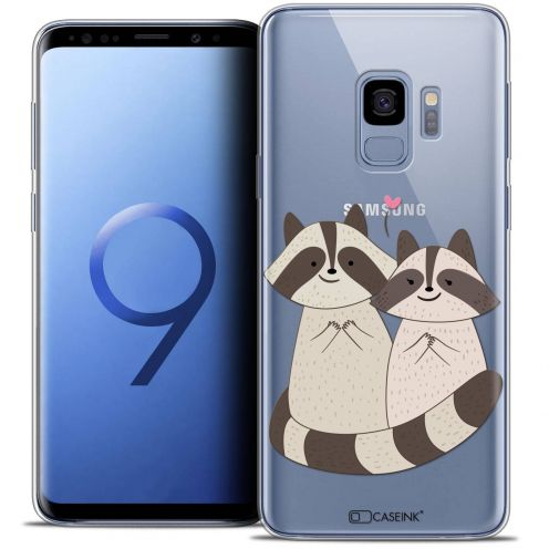"Coque Crystal Gel Samsung Galaxy S9 (5.8"") Extra Fine Sweetie - Racoon Love"