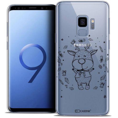 "Coque Crystal Gel Samsung Galaxy S9 (5.8"") Extra Fine Noël 2017 - Sketchy Cerf"