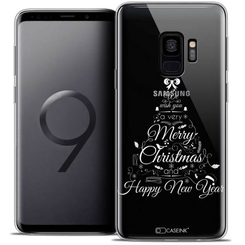 "Coque Crystal Gel Samsung Galaxy S9 (5.8"") Extra Fine Noël 2017 - Calligraphie"