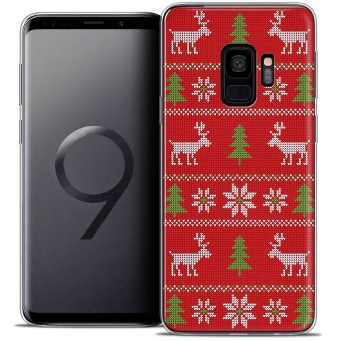 """Coque Crystal Gel Samsung Galaxy S9 (5.8"""") Extra Fine Noël 2017 - Couture Rouge"""