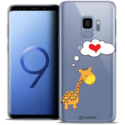 "Coque Crystal Gel Samsung Galaxy S9 (5.8"") Extra Fine Love - Girafe Amoureuse"