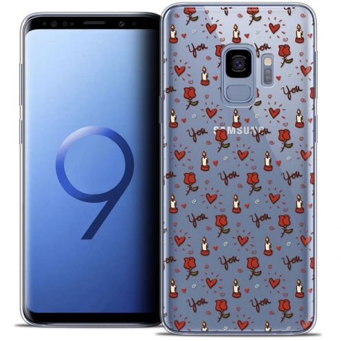 "Coque Crystal Gel Samsung Galaxy S9 (5.8"") Extra Fine Love - Bougies et Roses"