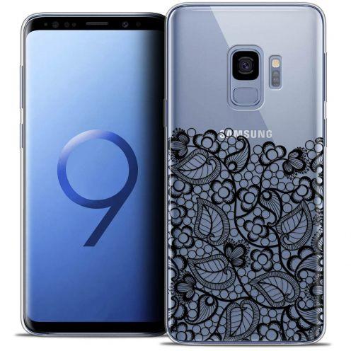 "Coque Crystal Gel Samsung Galaxy S9 (5.8"") Extra Fine Spring - Bas dentelle Noir"