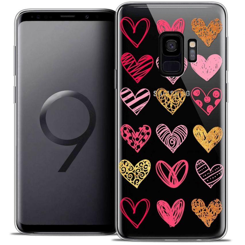 "Coque Crystal Gel Samsung Galaxy S9 (5.8"") Extra Fine Sweetie - Doodling Hearts"