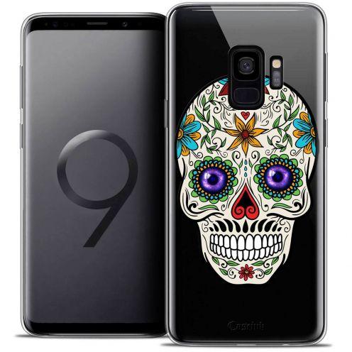 "Coque Crystal Gel Samsung Galaxy S9 (5.8"") Extra Fine Skull - Maria's Flower"